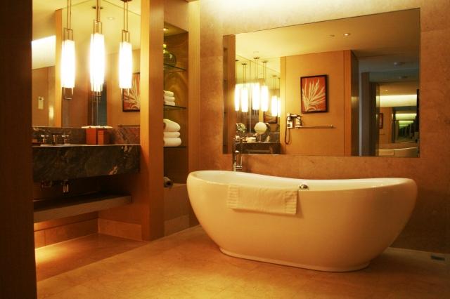 バスルームを使って優雅に楽しむ